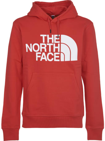 The North Face Red Hoodie With Logo