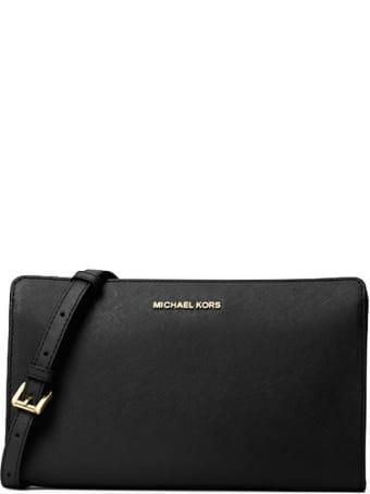 Michael Kors Jet Set Travel Black Crossbody Bag