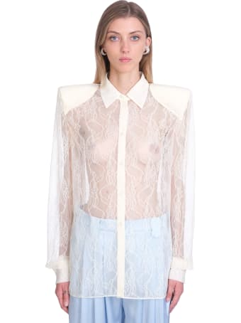 Magda Butrym Shirt In Beige Polyamide