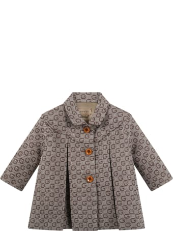 Gucci Multicolor Coat For Baby Kids With Double Gg