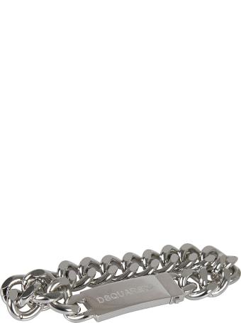 Dsquared2 Logo Stamp Chain Bracelet