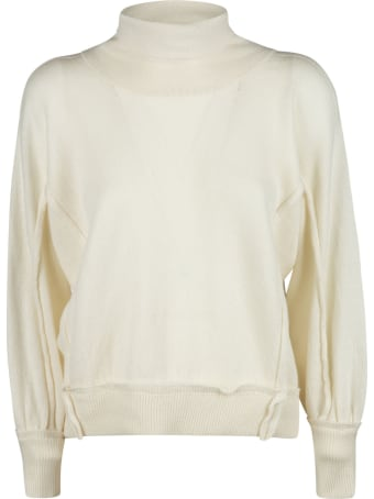 Maison Flaneur High-neck Ribbed Sweater