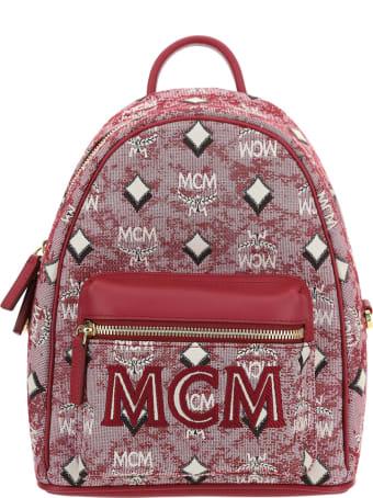 MCM Vintage Jacquard Backpack Small