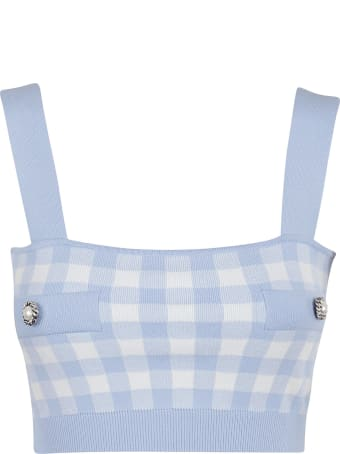 Alessandra Rich Gingham Top