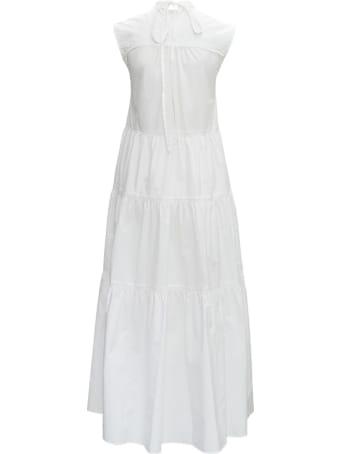 Patou Maxi White Cotton Dress
