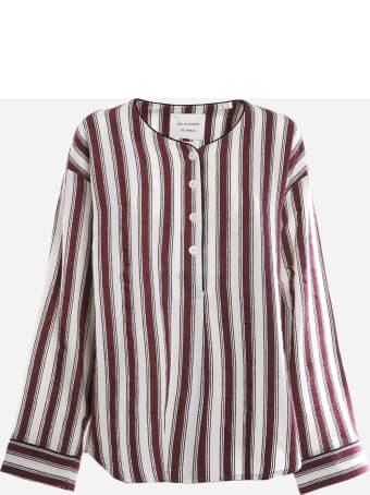 Les Coyotes De Paris Cotton Blend Shirt With All-over Striped Pattern