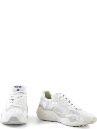 Atlantic Stars White Mesh And Leather Stars Sneakers