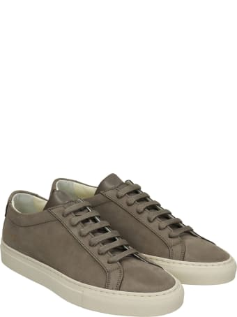 Common Projects Achille Sneakers In Grey Suede