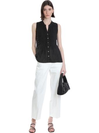 120% Lino Shirt In Black Linen