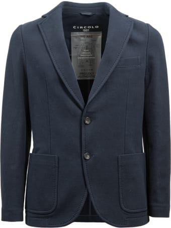 Circolo 1901 blue stretch cotton jacket