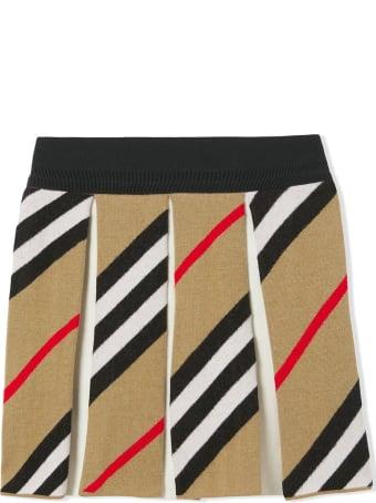 Burberry Archive Beige Wool-cotton Blend Skirt