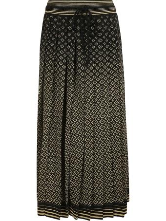 Gucci Tie-waist All-over Logo Skirt