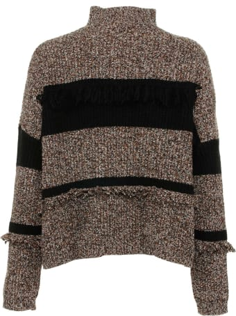 Kaos Sweater With Burnt Fringes