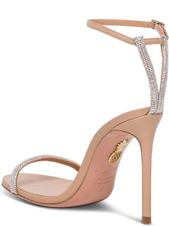 Aquazzura Moon Crystal Leather Sandals
