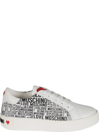 Love Moschino Logo Printed Sneakers