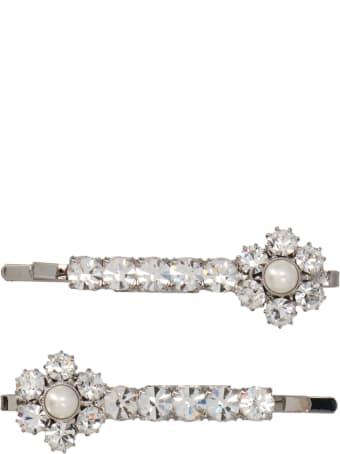 Alessandra Rich 'crystal Daisy' Hair Pin