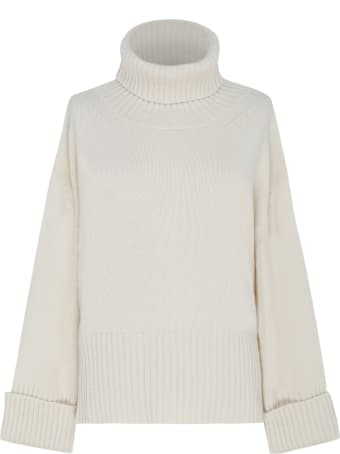Saverio Palatella Natural Cashmere Turtleneck Sweater