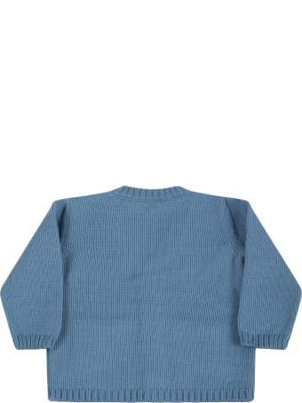 Little Bear Light Blue Cardigan For Baby Boy