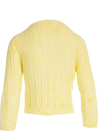 Rosso Puro Tie Dye Korean Sweater W/braids