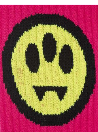 Barrow Ribbed Face Motif Socks