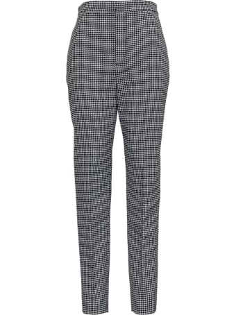 Saint Laurent Tailored Pants In Houndstooth Wool