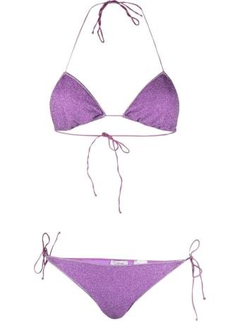Oseree Lumiere Bikini In Lilac Lurex