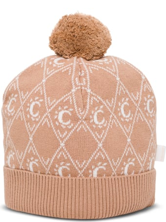 Chloé Pink Wool And Cotton Hat With Logo