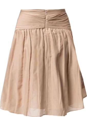 N.21 Beige Cotton-silk Blend Skirt