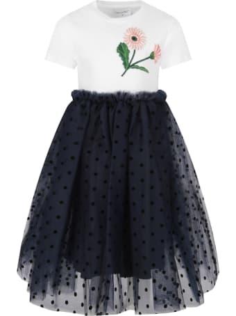 Oscar de la Renta Bicolor Dress For Girl