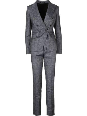 Tagliatore Melange Linen Blend Suit