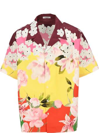 Valentino Flower Print Shirt Bowling Shirt