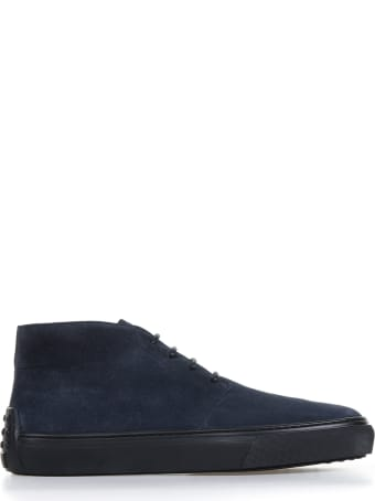 Tod's Ankle Boots In Suede Night