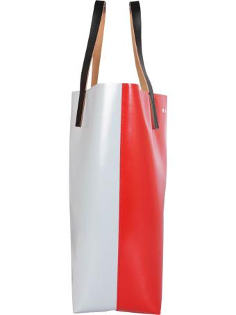 Marni Two-tone Shopping Bag With Logo