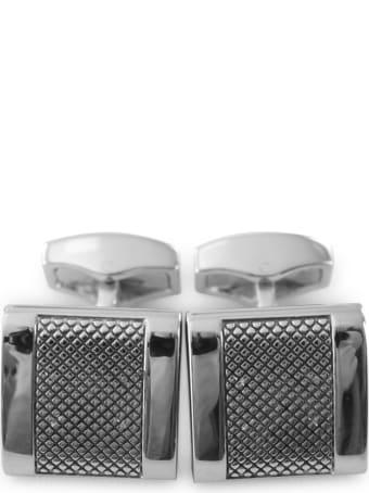 Tateossian Diamond Pattern / Alpha D-shape Cufflink