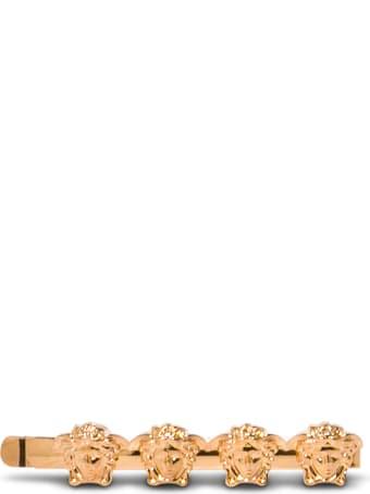 Versace Gold-tone Metal Medusa Hair Pin