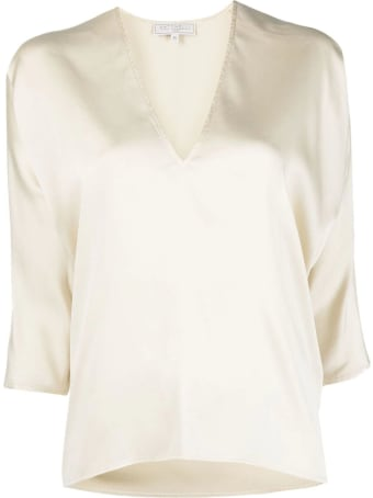 Antonelli Ivory White Silk Blend Blouse