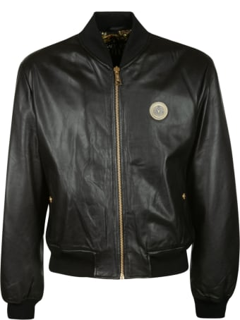Versace Jeans Couture Logo Patch Zip Bomber