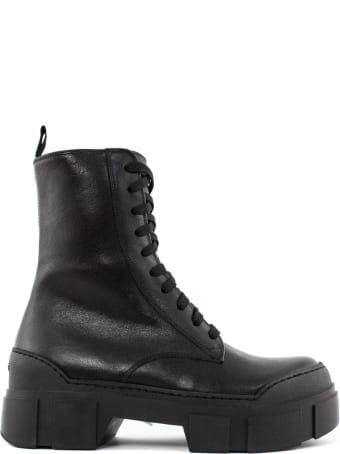 Vic Matié Black Leather Ankle Boot