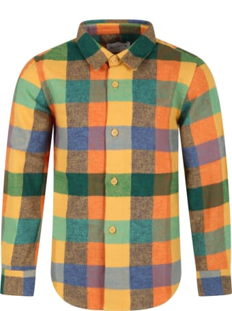 Wolf & Rita Multicolor ''roberto'' Shirt For Kids With Check