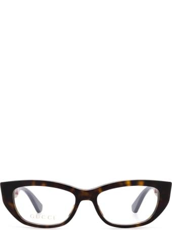 Gucci Gucci Gg0277o Havana Glasses