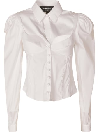 Les Hommes Popeline Stretch Corset Shirt