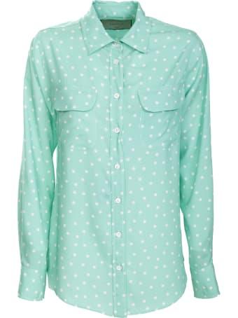 Bagutta polka dot green shirt