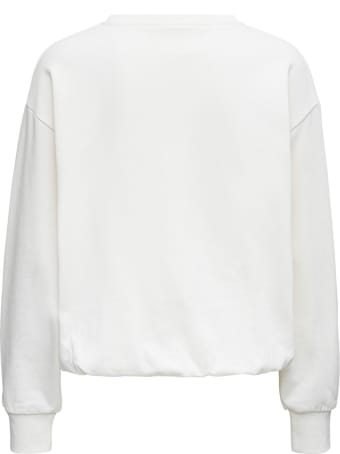 SEMICOUTURE White Cotton Sweatshirt With Logo Print