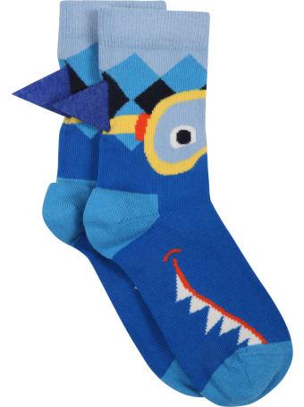 Happy Socks Multicolor Socks For Boy With Shark