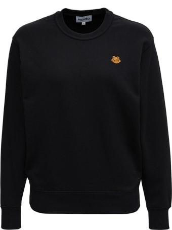 Kenzo Black Jersey Sweatshirt With Logo Patch