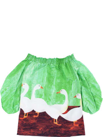 Stella Jean Little Girl Dress With Geese