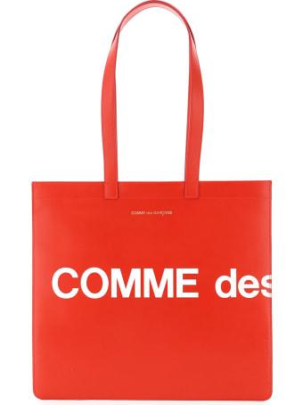 Comme des Garçons Shirt Boy Leather Tote Bag With Logo
