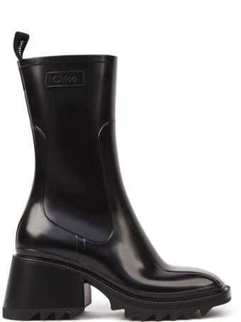 Chloé Black Rubber Betty Boots