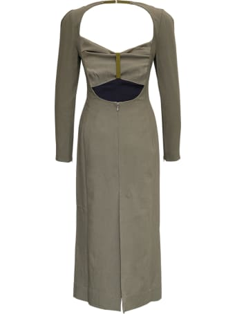 Jacquemus La Robe Terra Viscose And Linen Long Dress
