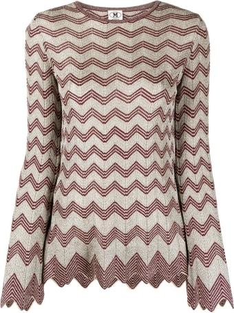 M Missoni Viscose Zig-zag Long-sleeved Shirt